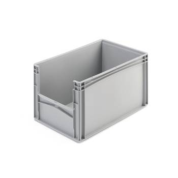 Muovilaatikko, harmaa, 600x400x320 mm