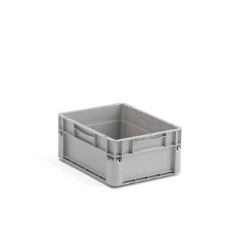 Euro plastic boxes, 15 l. 400x300x175 mm, grey