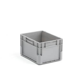 Plastback Euro, 21 liter, 400x300x235 mm, grå