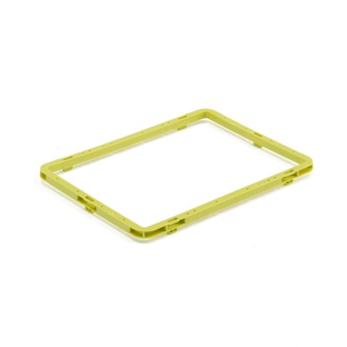 #en Heigth extension for Euro plastic boxes, 400x300x23,5 mm, green
