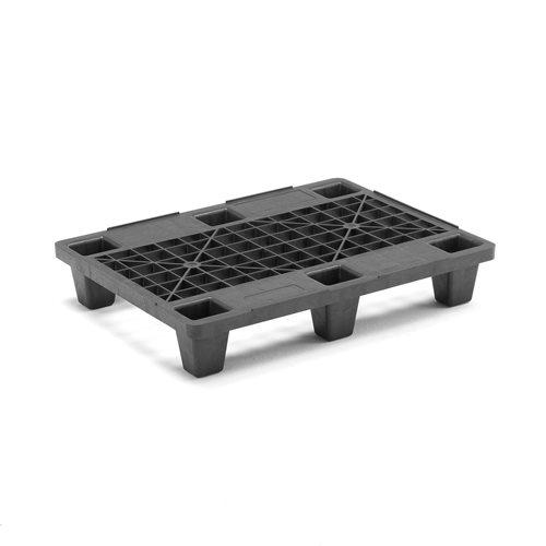 Plastpall, svart, 800x600x143 mm