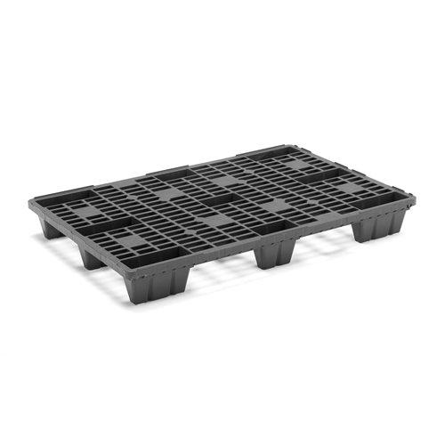 #en Plastic pallet, 1200x800, 800 kg, black