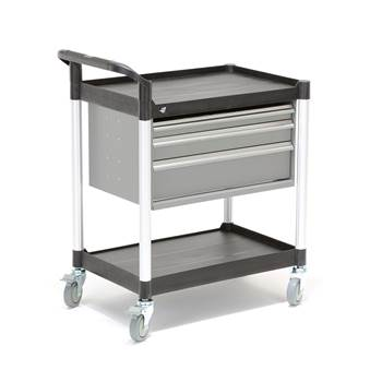 Tool trolley with 3 drawers: 850x480x950 mm