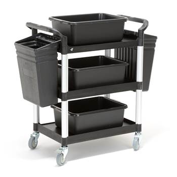 Service trolley with bins