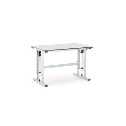 #en (sv)Eldrivet arbetsbord 1200x800mm grå, max 300kg