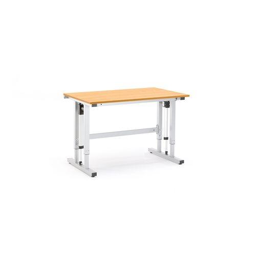 Sähkösäädettävä työpöytä, 400 kg, 1200x800 mm, pyökki