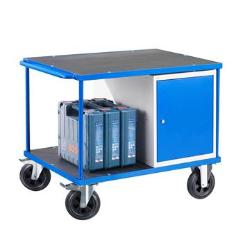 Workshop trolley, 1 cabinet, 300 kg load, 875x1000x700 mm