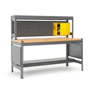 Combo workbench with tool panel and lighting