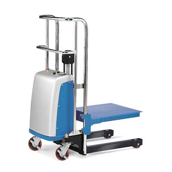 Electric mini stacker 400 kg, lift height:1500mm. Incl. UK adapter