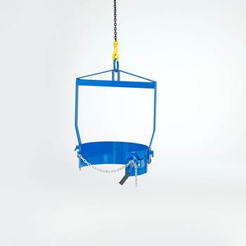 Drum lift with manual rotation