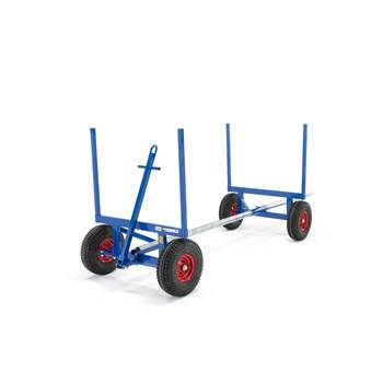 Long material trolley, 3500 kg load, 1160x1000 mm