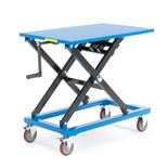 Manual lift table with handle