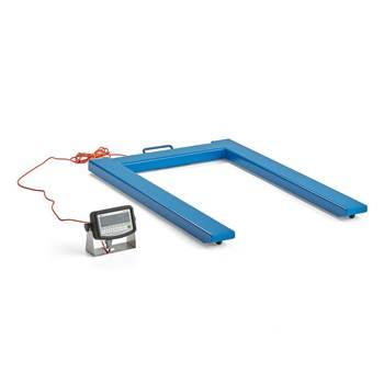 Pallvåg, 2000 kg, viktdelning 0,5 kg, blå