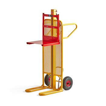 Trolley with manual lift table, 100 kg load, 30-1020 mm lift height