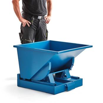 Auto self tipping skip, 815x760x580 mm, 150 L, blue