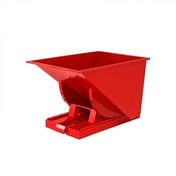 Auto self tipping skip, 815x760x580 mm, 150 L, red