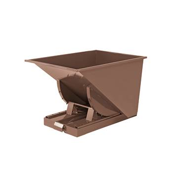 Auto self tipping skip, 815x760x580 mm, 150 L, brown