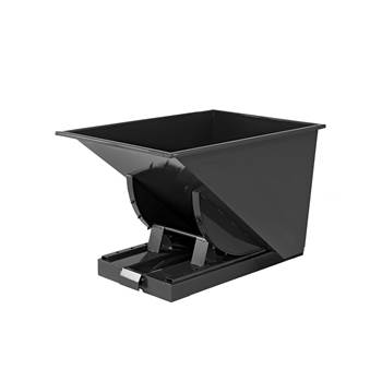 Auto self tipping skip, 815x760x580 mm, 150 L, black