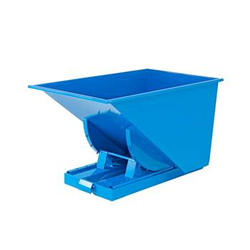 Auto self tipping skip, 1235x840x750 mm, 300 L, blue