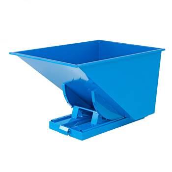 Auto self tipping skip, 1525x1215x870 mm, 900 L, blue
