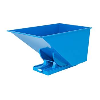 Auto self tipping skip, 1700x1215x1045 mm, 1100 L, blue