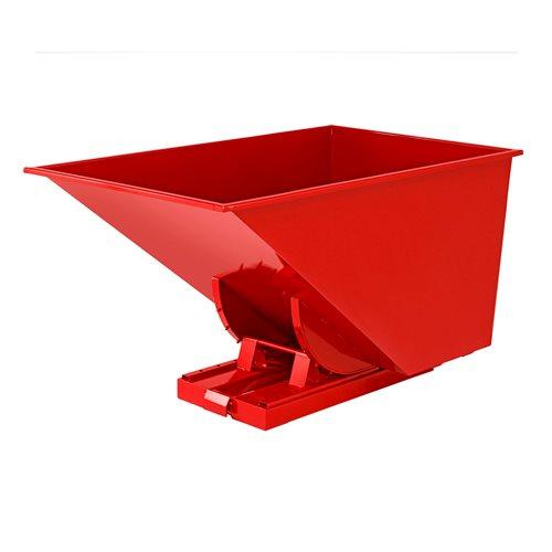 Czerwony kontener - wywrotka o pojemności 1100 l