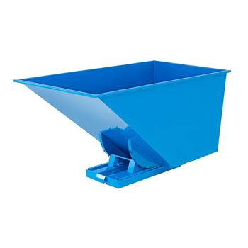 Auto self tipping skip, 2073x1066x1248 mm, 1600 L, blue