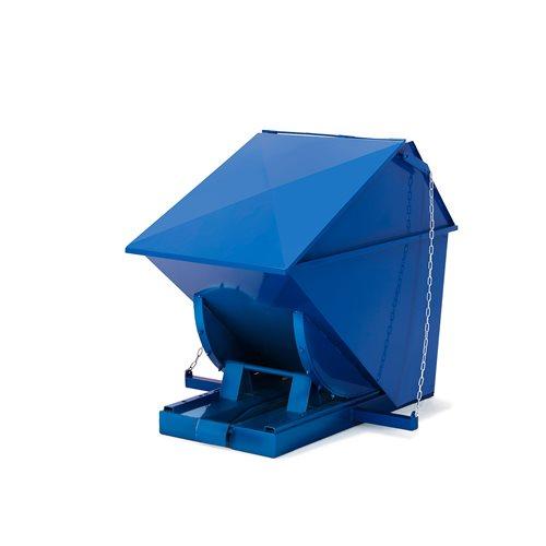 #en Tipconainer with lid 150 Liter Blue colour
