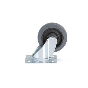 Koła z miękkiej gumy, Ø125x40, Samonastawne