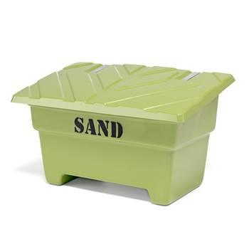 Zielony pojemnik na sól lub piach o poj, 550 l, 1420x920x870mm