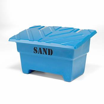 Grit bin, 870x1420x920 mm, 550 L, blue