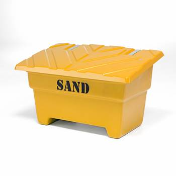 Grit bin, 870x1420x920 mm, 550 L, yellow