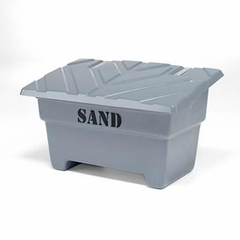 Sandkasse, 550 liter, grå