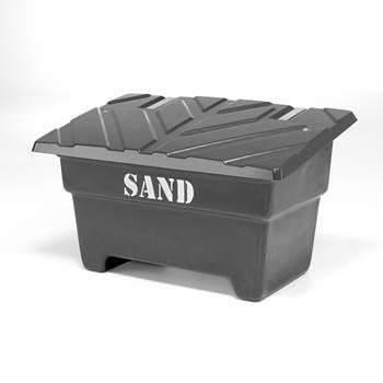 Sandlåda, 550 liter, svart
