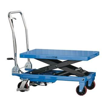 Hydraulisk løftevogn, 500 kg, blå