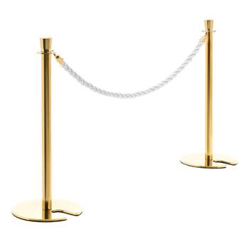 Barrier system, rope, L 1500 mm, natural, brass