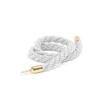 Barrier system, rope, 1500 mm, white, brass
