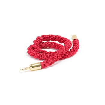 Barrier system, rope, 1500 mm, red, brass