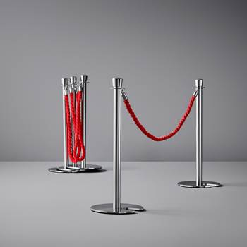 Barrier system, post, stainless steel