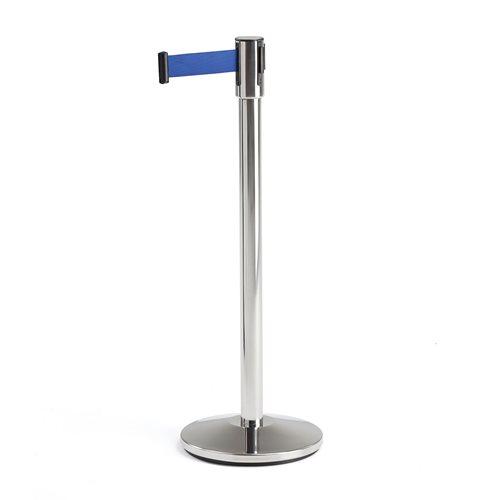 Retractable belt barrier system