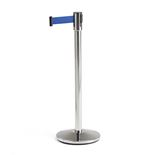 Retractable belt barrier system