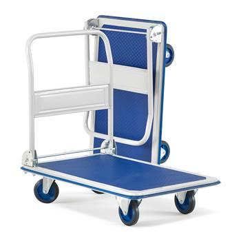 Stabilny składany wózek transportowy do 300kg.