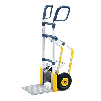Height adjustable easy-tip warehouse cart, 250 kg load