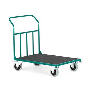 Felt covered platform trolley, 300 kg load, 1000x700x970 mm