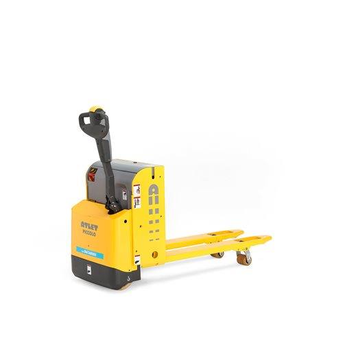 Compact powered pallet truck