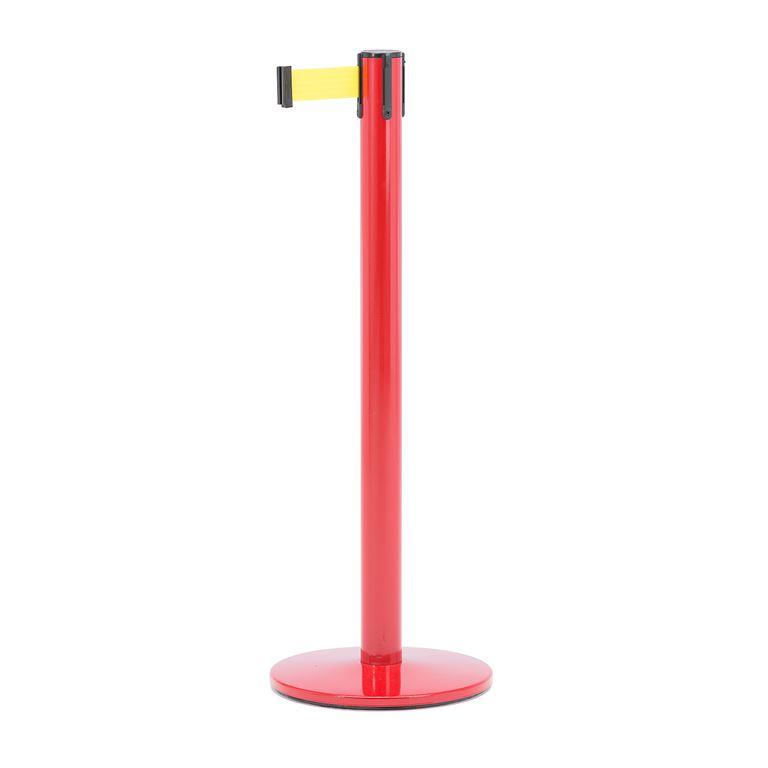 Słupek z taśmą, długość: 2300 mm, czerwony, żółty