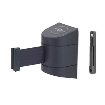 Avspärrningsband i kassett, längd: 4600 mm, svart