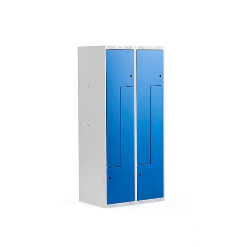 """Szafy typu """"L"""" 2x2 schowki, Kolor drzwi:, Niebieski"""