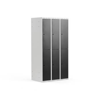 2 door locker, 3 modules, 1740x900x550 mm, black