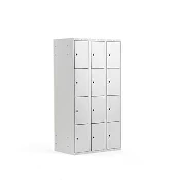 4 door locker, 3 modules, 1740x900x550 mm, grey